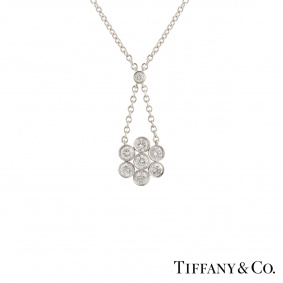 Tiffany & Co. Diamond Platinum Enchant Pendant